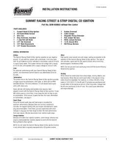 SUMMIT RACING STREET & STRIP DIGITAL CD IGNITION