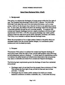 Sump Pump Discharge Policy (Draft)