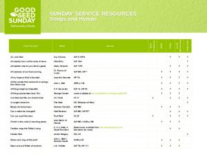 SUNDAY SERVICE RESOURCES