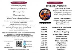 SUNDAYS LIVE MUSIC. Whatever your journey. Whatever your destination