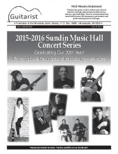 Sundin Music Hall Concert Series