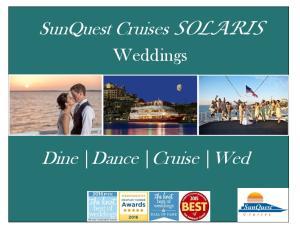 SunQuest Cruises SOLARIS. Dine Dance Cruise Wed. Weddings