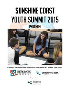 Sunshine Coast Youth Summit 2015