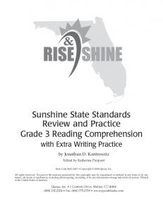 Sunshine State Standards Review and Practice Grade 3 Reading Comprehension