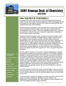 SUNY Oswego Dept. of Chemistry