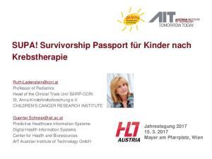 SUPA! Survivorship Passport für Kinder nach Krebstherapie