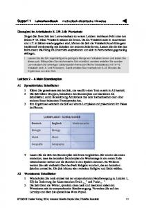 Super! 1 Lehrerhandbuch methodisch-didaktische Hinweise
