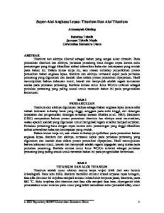 Super-Aloi Angkasa Lepas: Titanium Dan Aloi Titanium