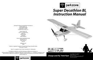Super Decathlon BL Instruction Manual