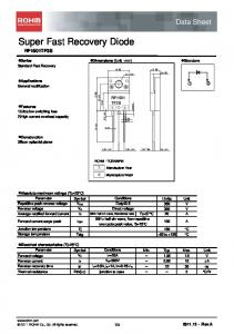 Super Fast Recovery Diode