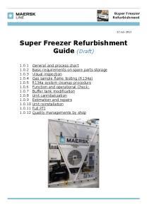 Super Freezer Refurbishment Guide (Draft)