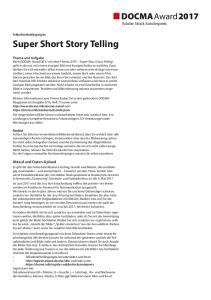 Super Short Story Telling