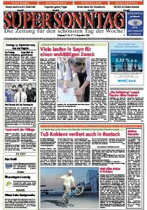 SUPER SONNTAG. Die Zeitung für den schönsten Tag der Woche! Jahrgang 15 -Nr September 2009