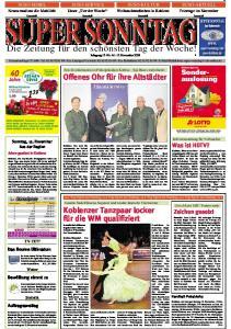 SUPER SONNTAG. Die Zeitung für den schönsten Tag der Woche! Jahrgang 15 -Nr November 2009