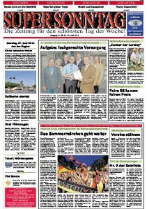 SUPER SONNTAG. Die Zeitung für den schönsten Tag der Woche! Jahrgang 16 -Nr Juni 2010