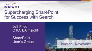 Supercharging SharePoint for Success with Search