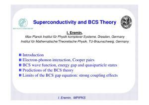 Superconductivity and BCS Theory