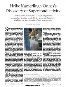 Superconductivity the disappearance