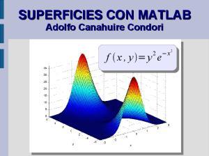SUPERFICIES CON MATLAB