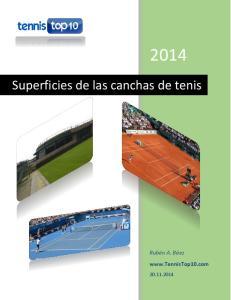 Superficies de las canchas de tenis