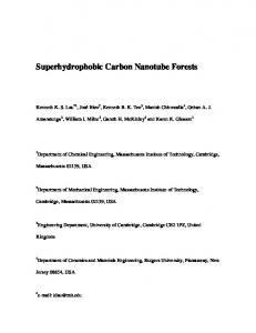 Superhydrophobic Carbon Nanotube Forests