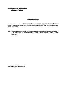 Superintendencia de Administradoras de Fondos de Pensiones CIRCULAR N 193