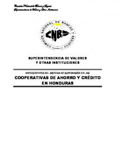 SUPERINTENDENCIA DE VALORES Y OTRAS INSTITUCIONES