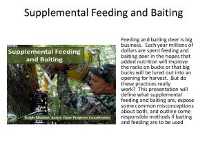 Supplemental Feeding and Baiting