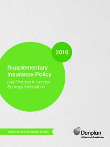 Supplementary Insurance Policy