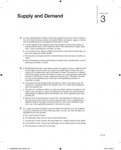 Supply and Demand. Solution