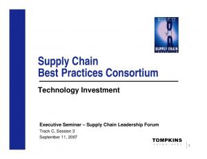 Supply Chain Best Practices Consortium