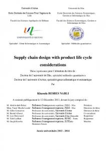 Supply chain design with product life cycle considerations
