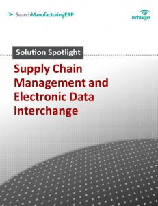 Supply Chain Management and Electronic Data Interchange