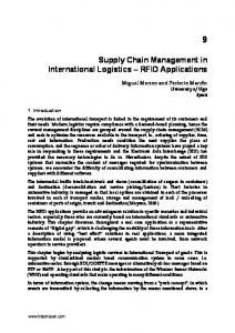 Supply Chain Management in International Logistics RFID Applications