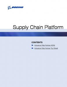 Supply Chain Platform