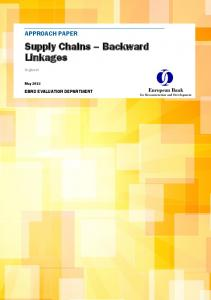 Supply Chains Backward Linkages