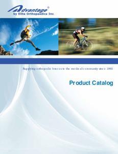 Supplying orthopedic braces to the medical community since Product Catalog