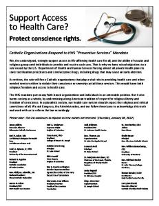 Support Access to Health Care?
