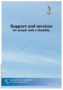Support and services for people with a disability