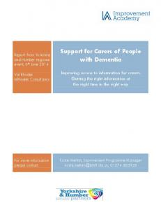 Support for Carers of People with Dementia