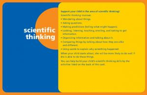 Support your child in the area of scientific thinking! scientific thinking