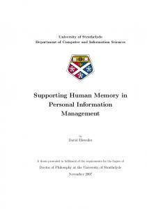 Supporting Human Memory in Personal Information Management