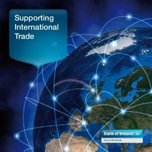 Supporting International Trade. Global Markets