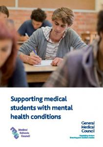 Supporting medical students with mental health conditions