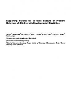 Supporting Parents for in-home Capture of Problem Behaviors of Children with Developmental Disabilities
