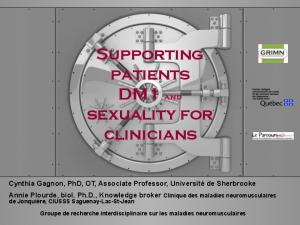 Supporting patients DM1 and sexuality for clinicians