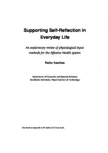 Supporting Self-Reflection in Everyday Life