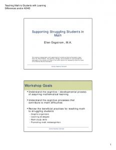 Supporting Struggling Students in. Ellen Engstrom, M.A