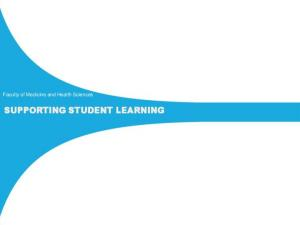 SUPPORTING STUDENT LEARNING