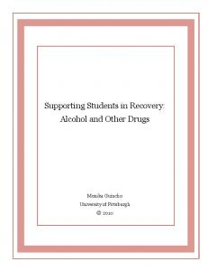Supporting Students in Recovery: Alcohol and Other Drugs